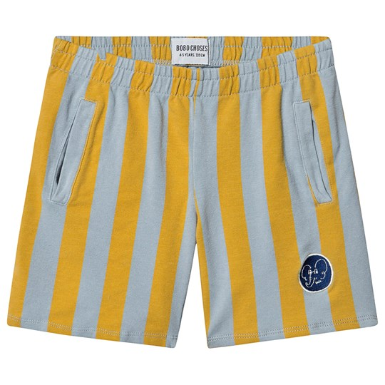 Bobo Choses Striped Bermuda Shorts Blue Fog Blue fog