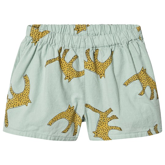 Bobo Choses Leopards Woven Shorts Frosty Green Frosty Green