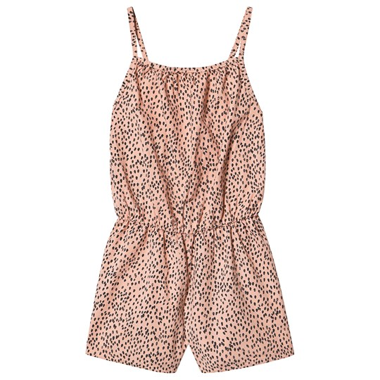 Bobo Choses Leopard Woven Romper Blooming Dahlia Blooming Dahlia