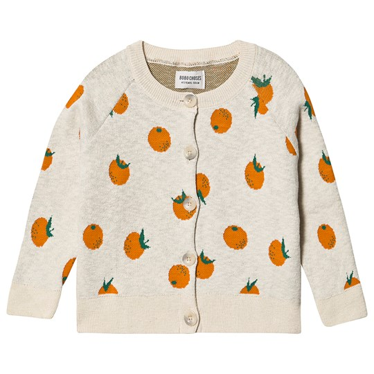 Bobo Choses Oranges Knit Cardigan Turtledove Turtledove