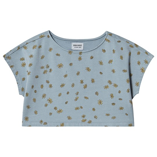 Bobo Choses Daisy Cropped Sweatshirt Blue Fog Blue fog