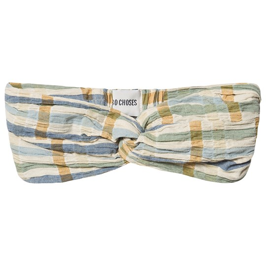 Bobo Choses Checker Headband Turtledove Turtledove