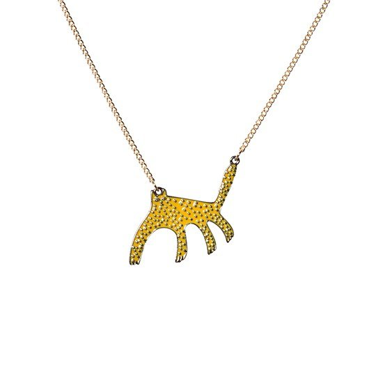 Bobo Choses Leopard Necklace Spectra Yellow Spectra Yellow