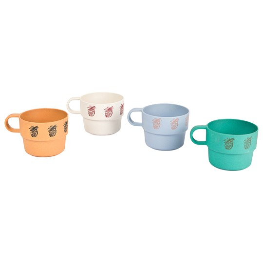 Bobo Choses Pineapple Bamboo Cup 4-Pack Turtledove Turtledove