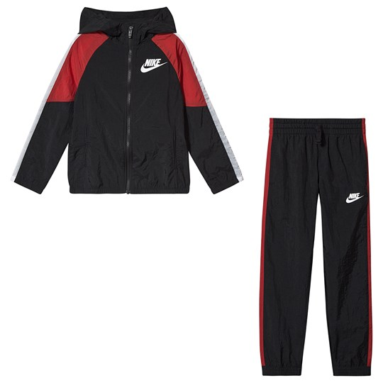 NIKE Woven Tracksuit Black/Red 011