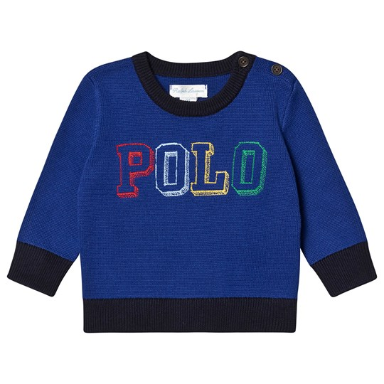 Ralph Lauren Embroidered Polo Sweater Royal Blue 002