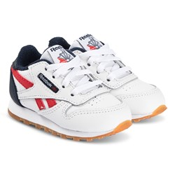 Reebok Classic Leather Infants Sneakers White and Navy