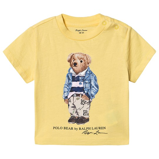 Ralph Lauren Preppy Bear Baby T-Shirt Yellow 003