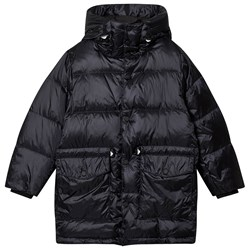 Emporio Armani Branded Toggle Down Puffer Jacket Navy