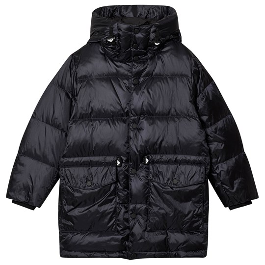 Emporio Armani Branded Toggle Down Puffer Jacket Navy 0922