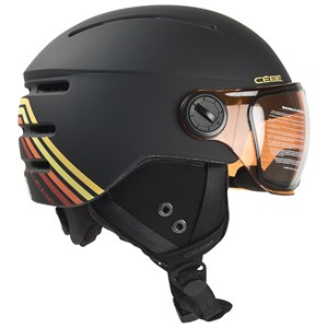 Image of Cébé Fireball Racing Lines Ski Helmet med Visor Matt Sort 49-51cm (1393677)