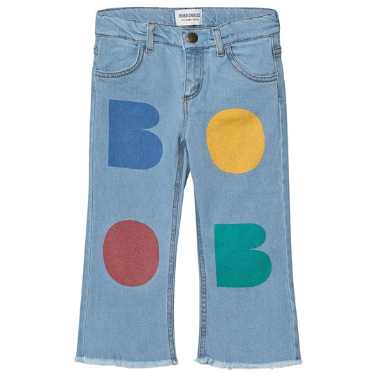 Bobo Choses Multicolor Trykk Blusset Denim Bukse Blue Fog Blue fog