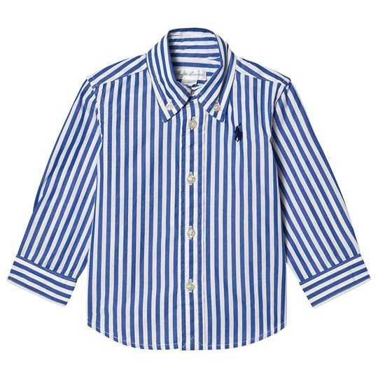 Ralph Lauren Poplin Shirt Blue/White Stripe 005
