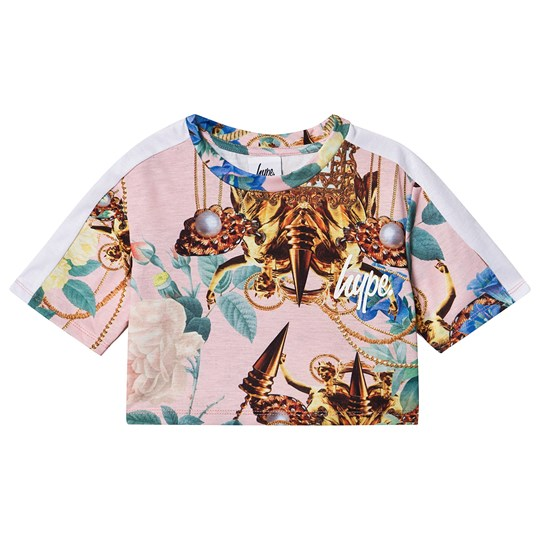 Hype Gold Crop Top Pink Pink Gold