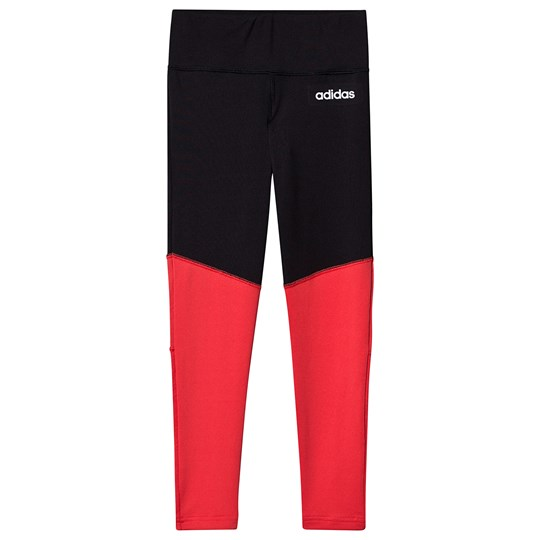 adidas Performance Logo Leggings Svart/Rosa black/core pink/white