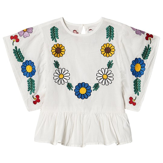 Stella McCartney Kids Floral Embroidered Blouse White 9232