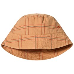 Tinycottons Check Bucket Hat Toffee/Red