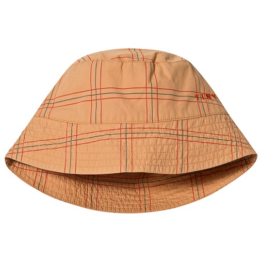 Tinycottons Check Bucket Hatt Toffee/Red Toffee/Red