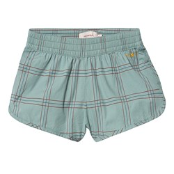 Tinycottons Check Shorts Sea Green/Red