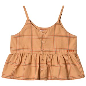 Image of Tinycottons Check Top Toffee/Rød 4 år (1522578)