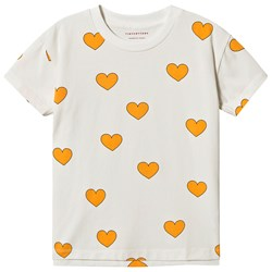 Tinycottons Hearts Tee Off White/Yellow