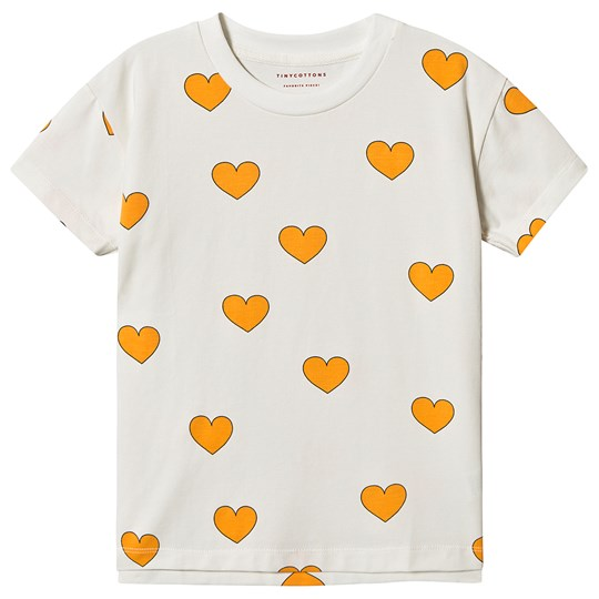 Tinycottons Hearts Tee Off White/Yellow Off-White/Yellow