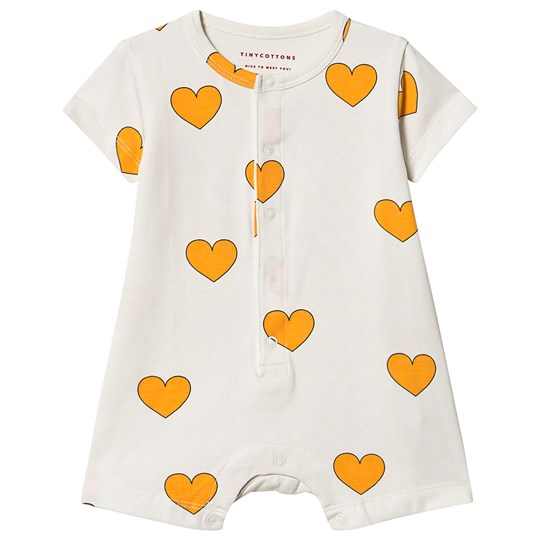 Tinycottons Hearts Romper Off White/Yellow Off-White/Yellow