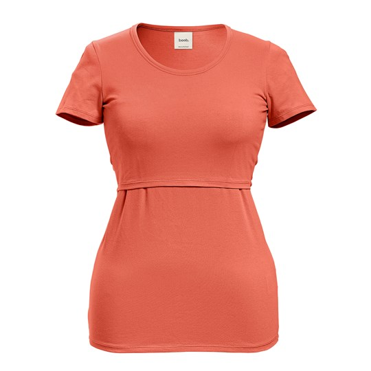 Boob Classic Short Sleeve Top Coral Coral