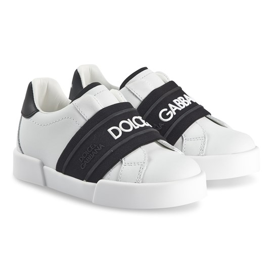 Dolce & Gabbana Logo Sneakers White and Black 8B926