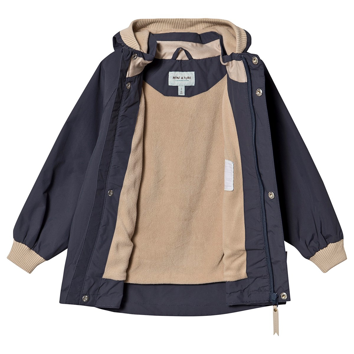 Mini A Ture Fleece Wally Ombre Blue Jakke