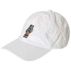 Ralph Lauren White with Embroidered Bear Cap