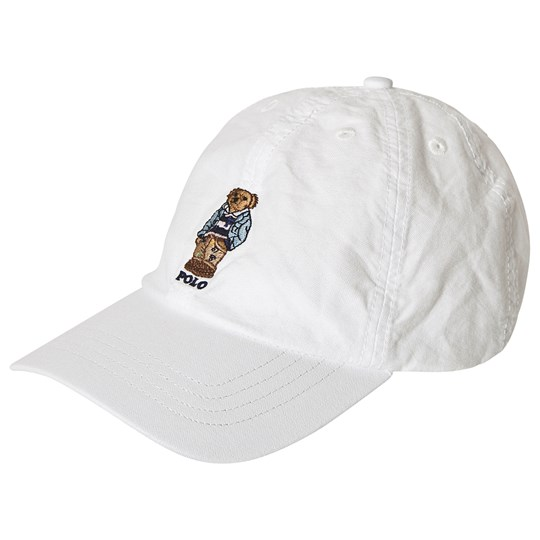 Ralph Lauren White with Embroidered Bear Cap 001