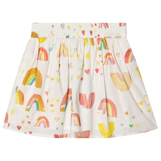 Stella McCartney Kids Watercolor Rainbow Print Skirt White 9234