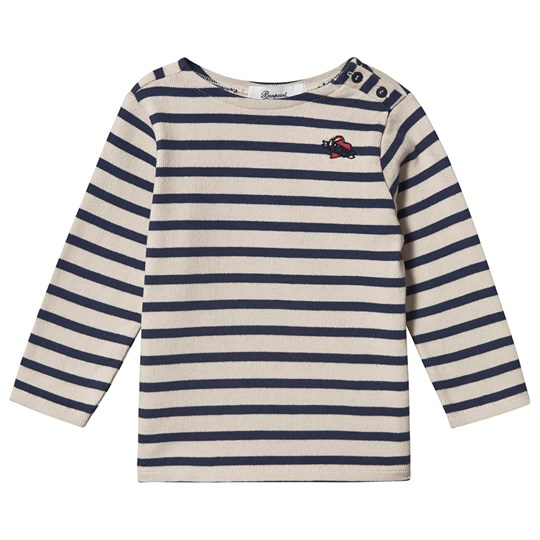 Bonpoint Broderet Jersey Sweater Navy 274A