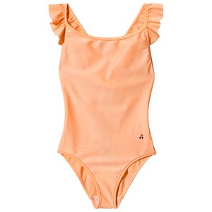Image of Bonpoint Cherry Logo Frill Cross Back Badedragt Coral 4 years (1574763)