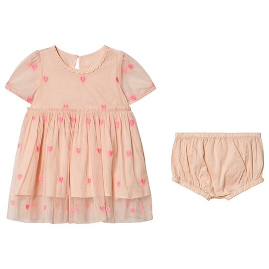Stella McCartney Kids Hearts Tulle Dress with Bloomers Pink 5771