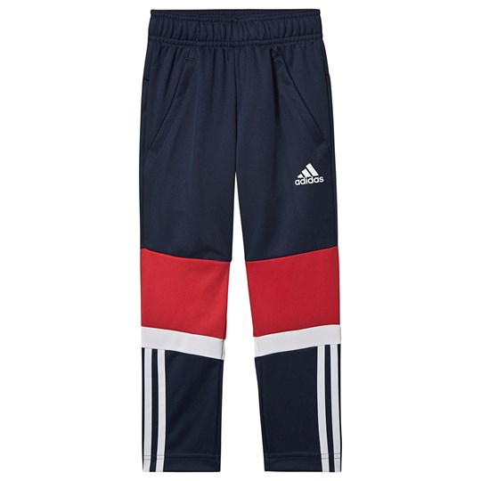 adidas Performance 3 Stripes Knit Sweatpants Navy collegiate navy/vivid red/white