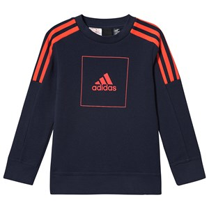 Image of adidas Performance Athletics Sweatshirt i Navy/R'd med Rund Hals og 3 Striber 11-12 years (152 cm) (1508683)