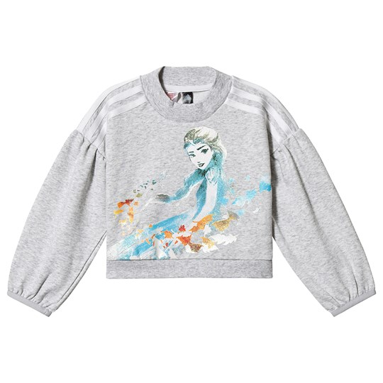 adidas Performance Frozen Sweatshirt Grey light grey heather/bold aqua