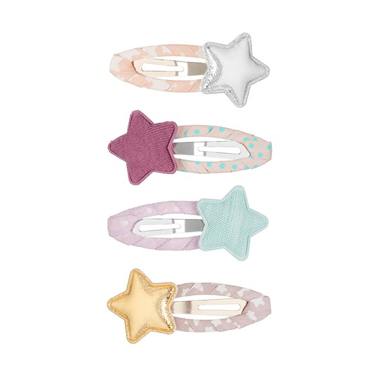Mimi & Lula 4-Pack Tokyo Star Hair Clips Floral Mix 60