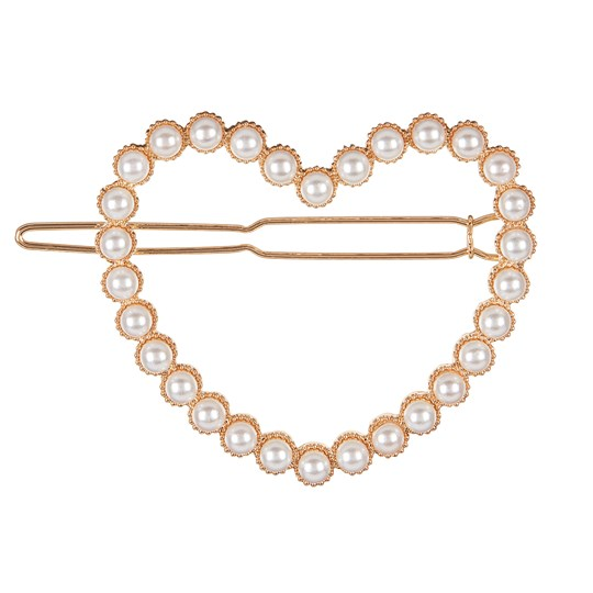 Mimi & Lula Pearly Heart Hair Clip White 64