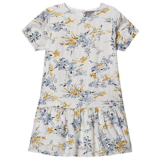 Creamie Dobby Flower Dress Cloud Cloud
