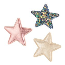 Mimi & Lula 3-Pack Space Superstar Hair Clips Pink Mix