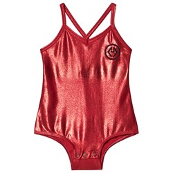 The Animals Observatory Trout Bodysuit Red Logo