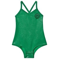 The Animals Observatory Trout Bodysuit Green Logo