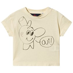 The Animals Observatory Rooster Baby T-Shirt Yellow Oui