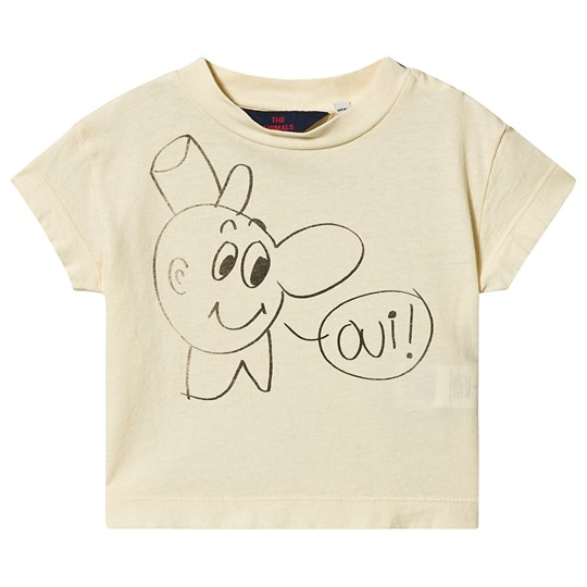 The Animals Observatory Rooster Baby T-Shirt Yellow Oui YELLOW OUI