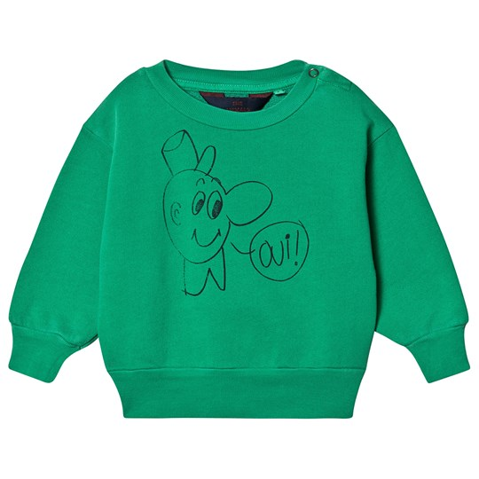 The Animals Observatory Bear Baby Sweatshirt Green Oui GREEN OUI