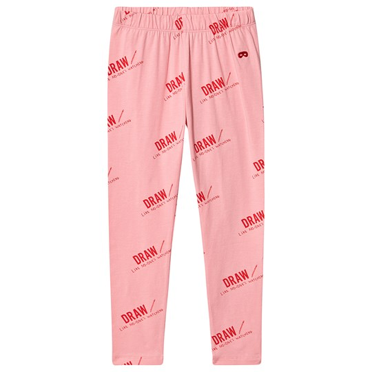 Beau Loves Draw Leggings Washed Pink Washed Pink Draw Red