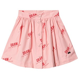 Image of Beau Loves Draw Button Skirt Washed Pink 10-11 år (1546508)
